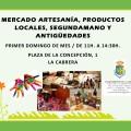 Único Mercado Primer Domingo de Mes. Mercado de Artesanía, Segunda-Mano, Productos Locales y Antiguedades. Infórmate para poner puesto.