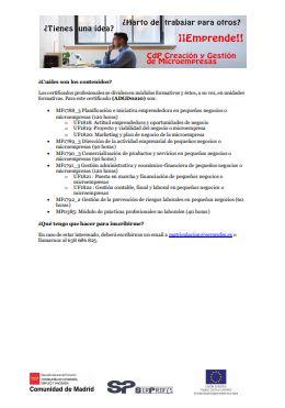 FORMACIÓN CREACIÓN Y GESTIÓN DE MICROEMPRESAS I