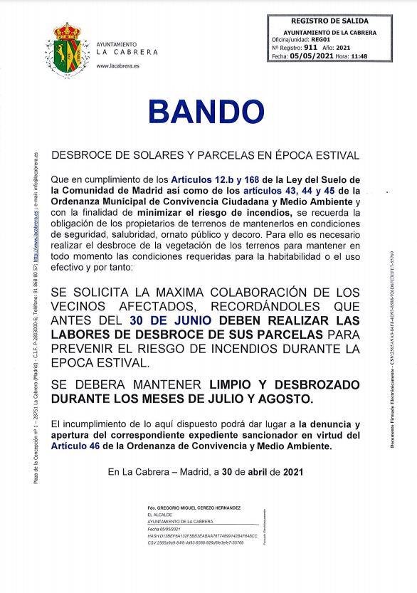 BANDO DESBROCE