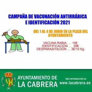 Campaña de Vacunación Antirrábica e Identificación 2021