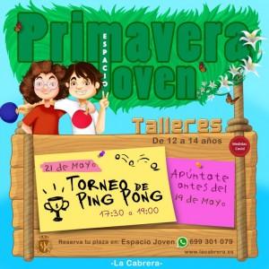 Primavera Joven 12-14. Torneo de Ping-Pong ESPACIO JOVEN