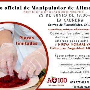 Curso  Oficial de Manipulador Alimentos- 29 Junio
