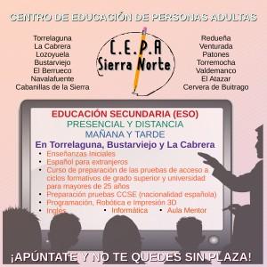 Matriculación C.E.P.A. Sierra Norte 2021