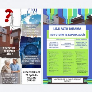 Matrículas abiertas para Grado Superior y Grado medio I.E.S. ALTO JARAMA