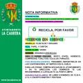 Campaña de reciclaje La Cabrera 2021