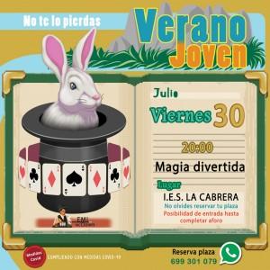 Actividad viernes 30 de julio: MAGIA Y HUMOR PARA TODA LA FAMILIA.