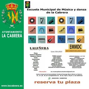 COMIENZA NUEVO CURSO DE LA ESCUELA DE MÚSICA LA CABRERA 2021/2022. ¡¡NO TE QUEDES SIN PLAZA!!