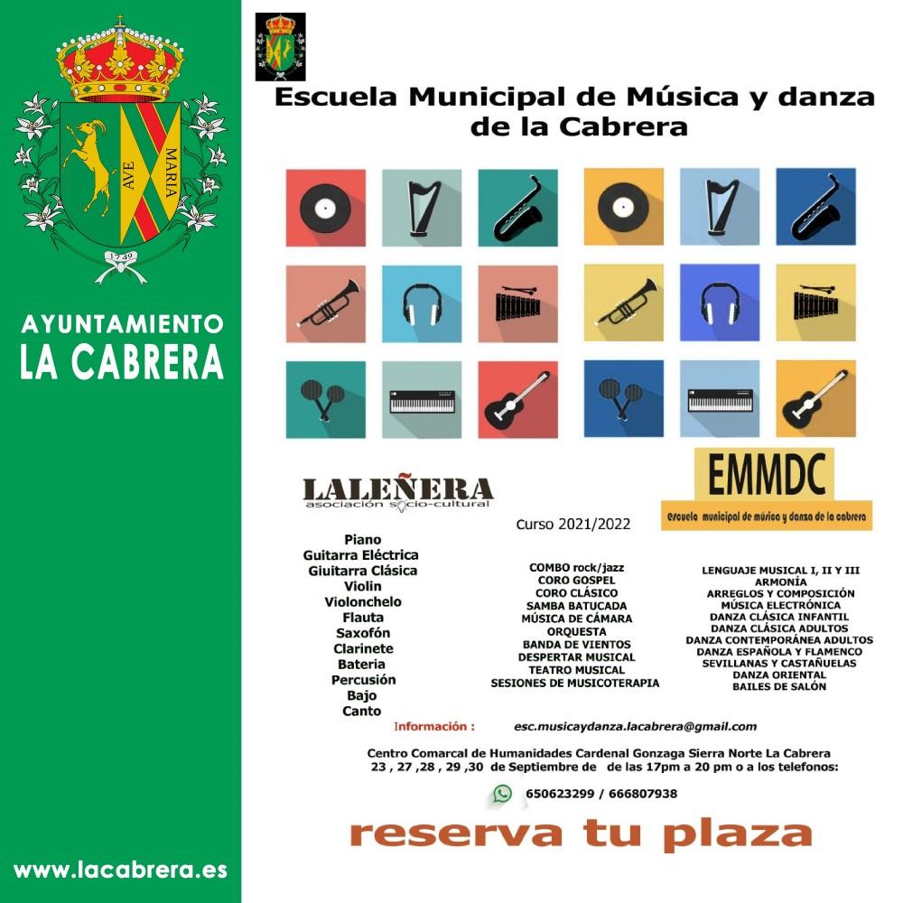 Cartel  Escuela Música 20212022