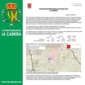 INCIDENCIA COVID19 LA CABRERA, 9 DE SEPTIEMBRE